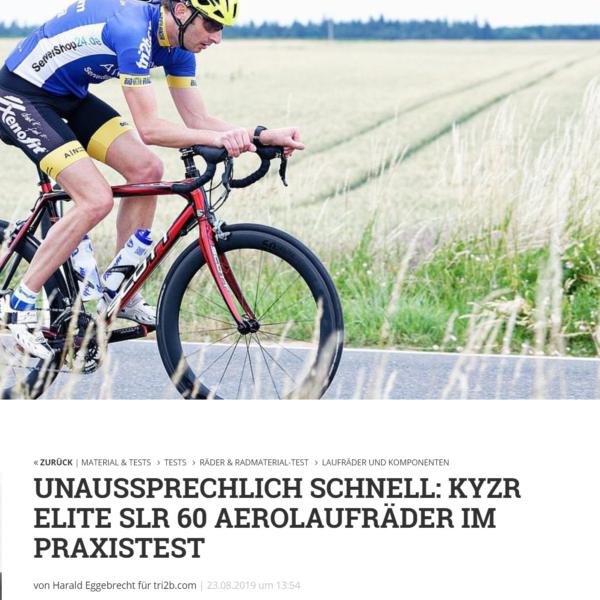 KYZR Laufradtest Tri2b Juli 2019